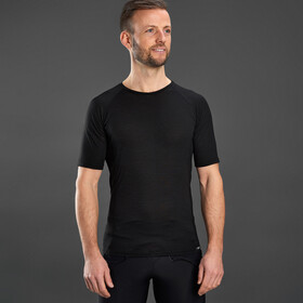 GripGrab Merino Polyfibre Short Sleeve Base Layer black